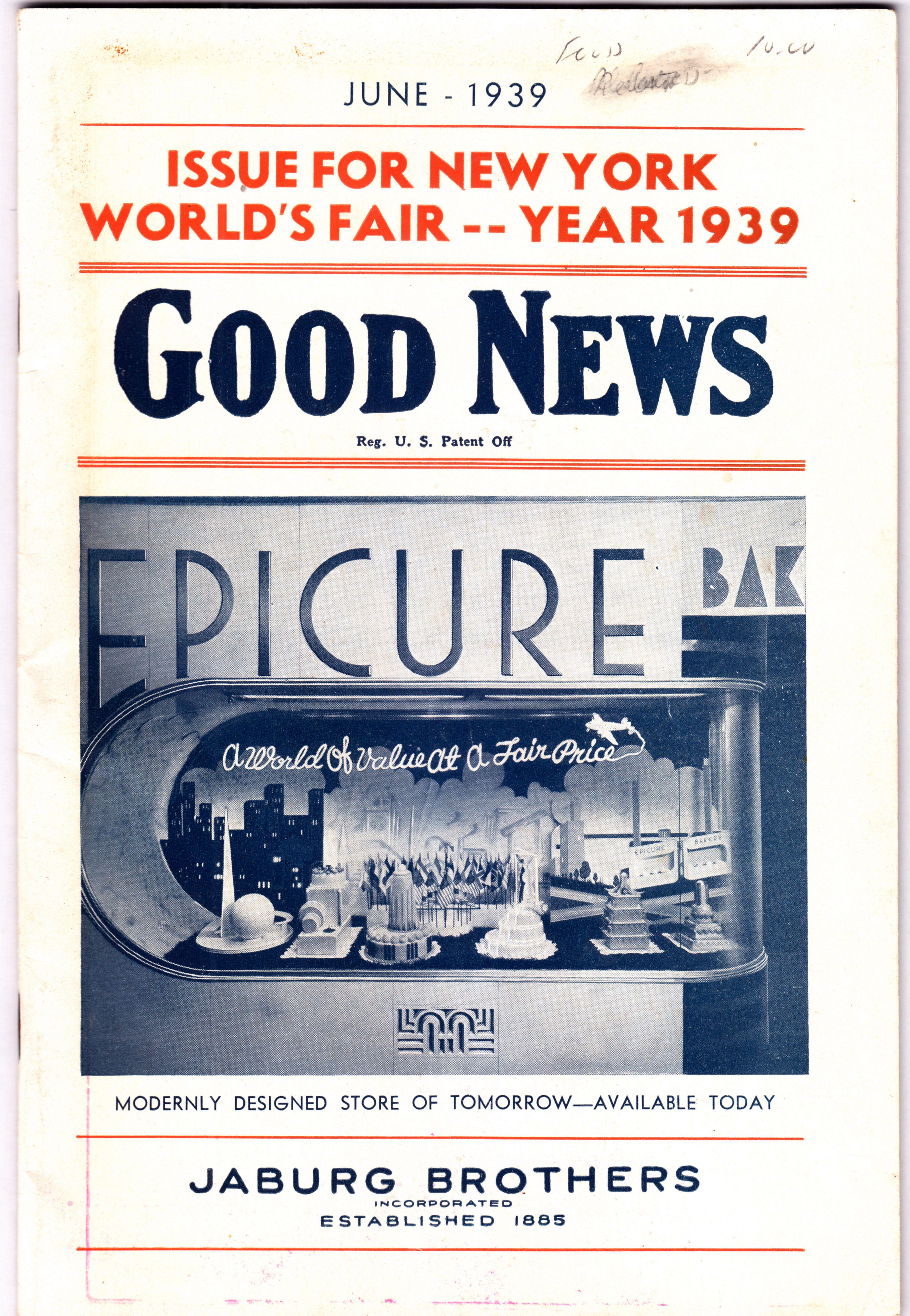 1939 New York World's Fair Good News Magazine