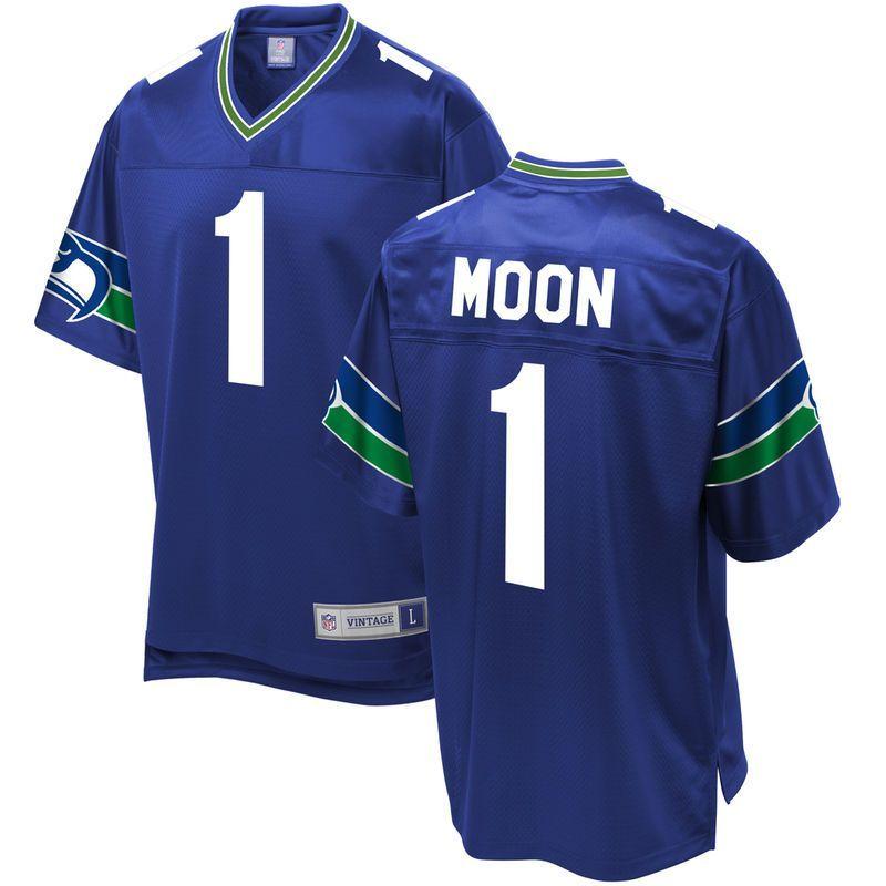 947bacc9 Warren Moon Seattle Seahawks NFL Pro Line Retired Player Jersey ...