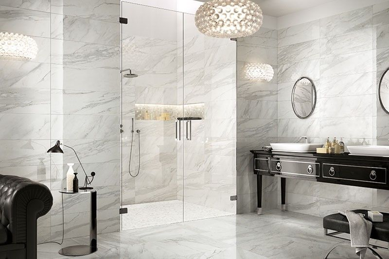 Imperial Marble White Rectified Wall & Floor Tile 60x60cm