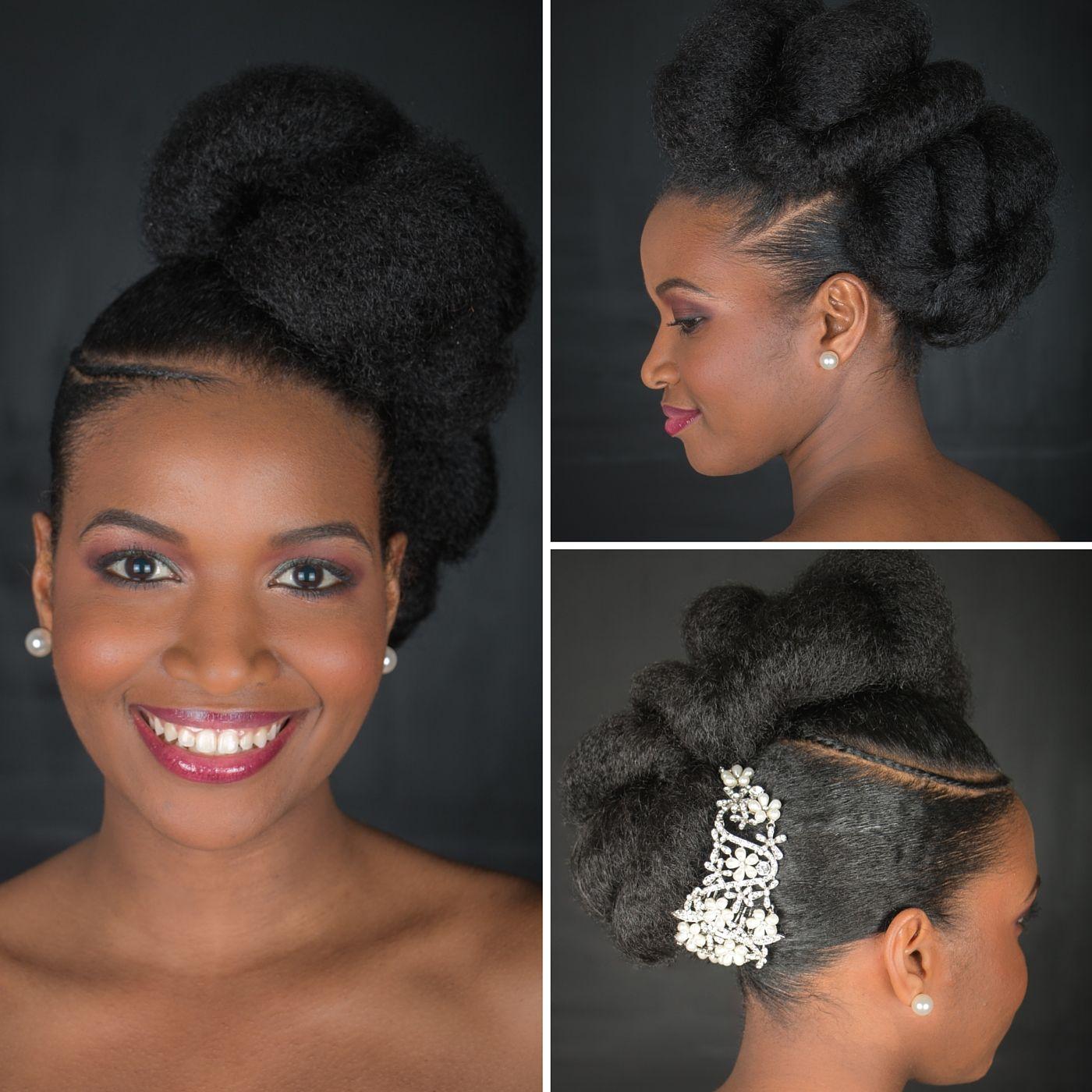 Cheveux crépus spécial coiffures de mariage coiffures