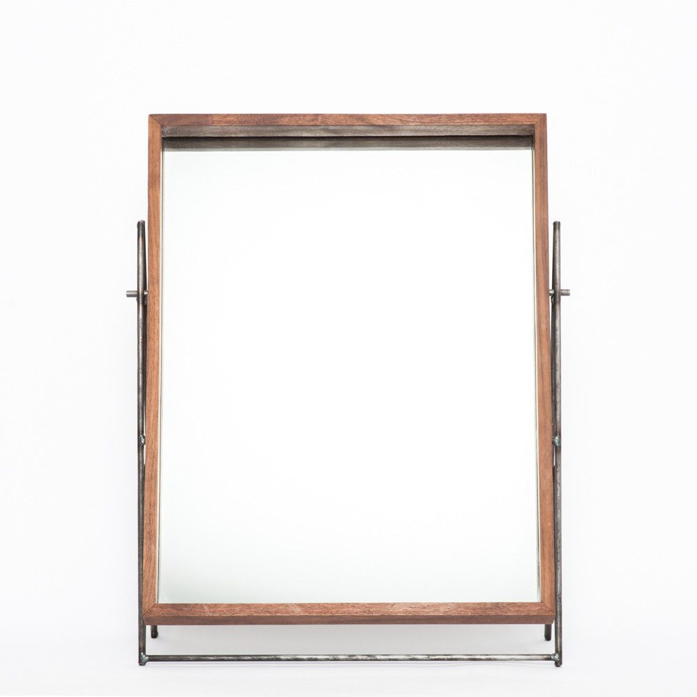 KKDW | Walnut & Steel Mirror