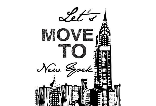 Lets Move To New York Canvas Print #NYC