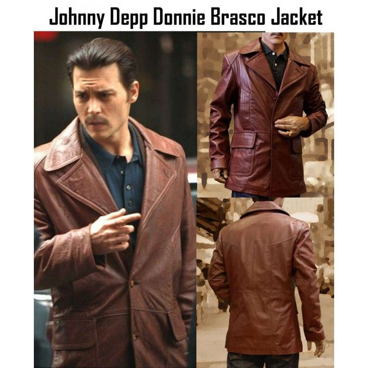 d26232002bf Donnie Brasco has played an out of the ordinary role in the movie as Donnie.  Get donnie s jacket with 30% discount from our online store samishlather