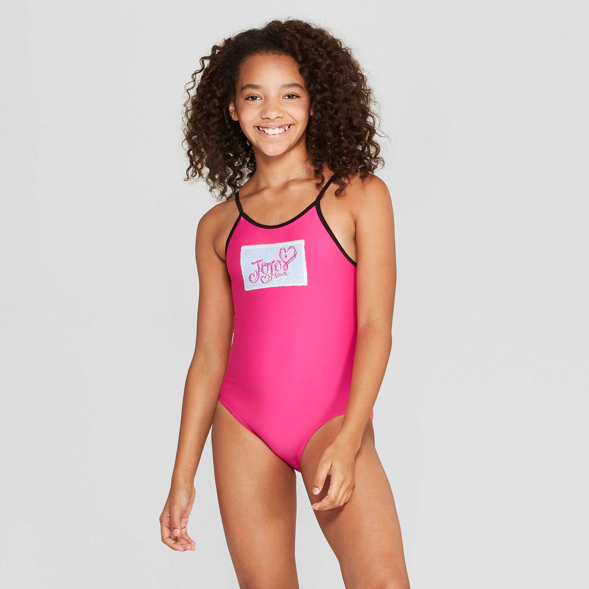 582ab3556b1ee Girls' Flip Sequins JoJo Siwa One Piece Swimsuit - Pink S in 2019 ...