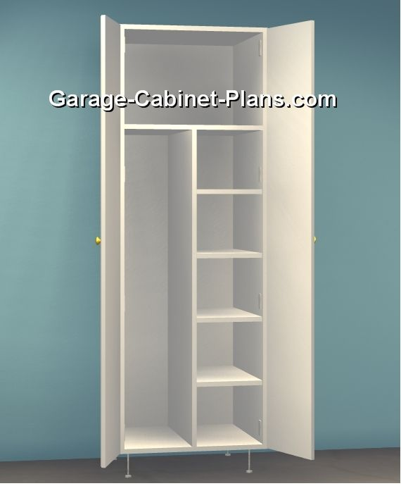 Gray Pantry Storage Cabinet 4 Shelves Laundry Closet Organizer Utility Garage