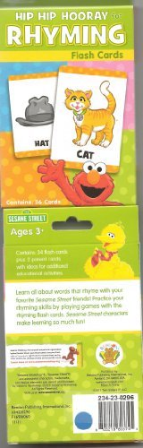 Sesame Street Rhyming Flash Cards (36 Cards) by Bendon Publishing International, Inc.. $3.00. Learn all about words that rhyme with your favorite Sesame Street friends! Practice your rhyming skills by playing games with the rhyming flash cards. Sesame Street characters make learning so much fun!. Save 39%!