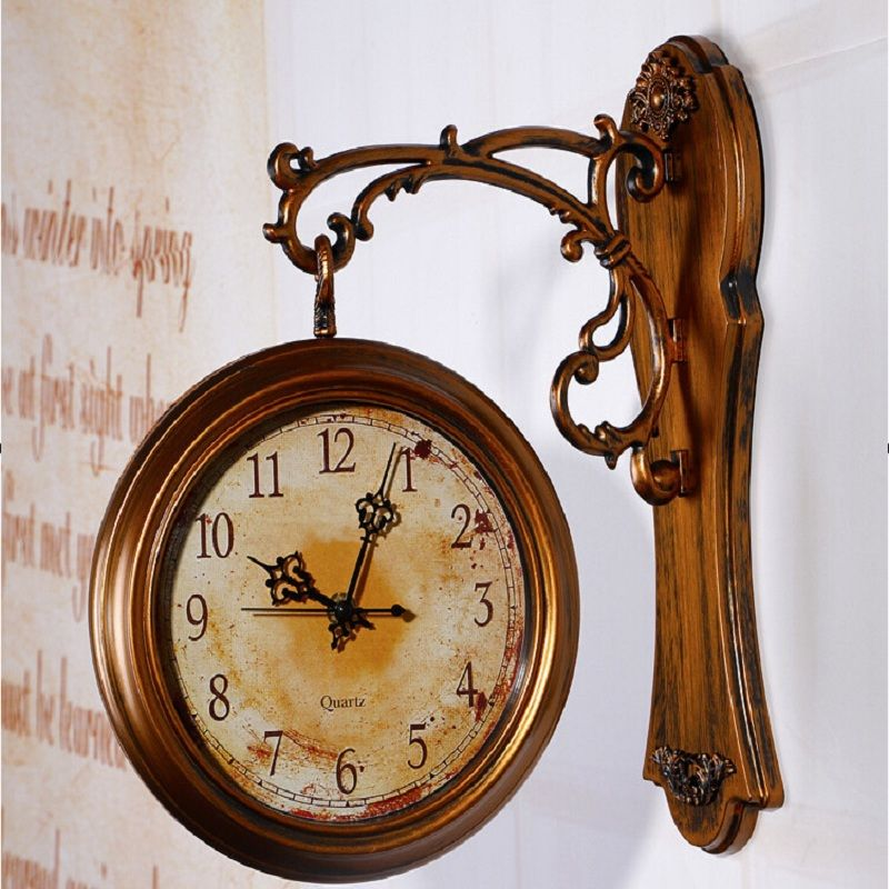Wall Clock Modern Design Double Sided Wall Clock 3d Digital Saat Large Vintage Wall Clocks Reloj Relogi Vintage Wall Clock Large Vintage Wall Clocks Wall Clock