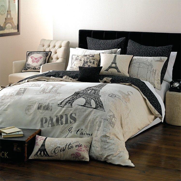 myhouse paris quilt covers bedding bedroom codie pinterest paris black and white. Black Bedroom Furniture Sets. Home Design Ideas