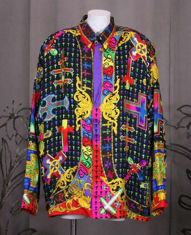 colorful versace shirts