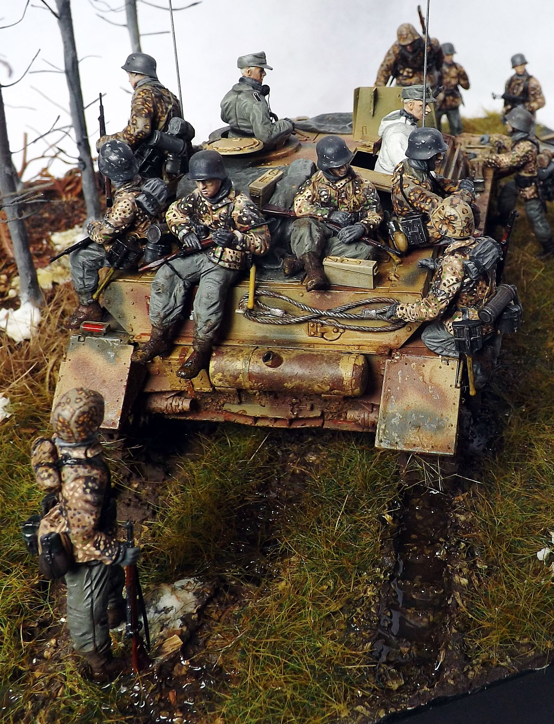 """""""All aboard-Ardennes 1944"""" 1/35 scale diorama by Terence Young"""
