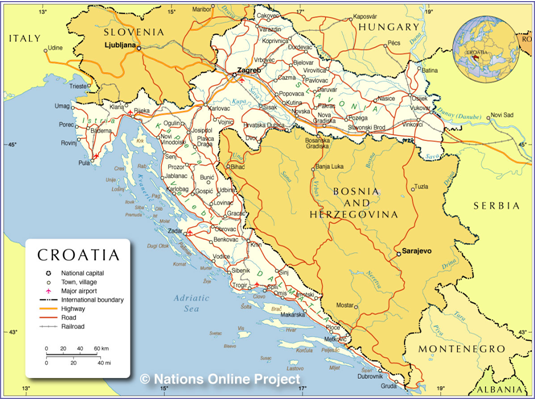 Europe Map Croatia Slovenia Ancient Medieval and Renaissance