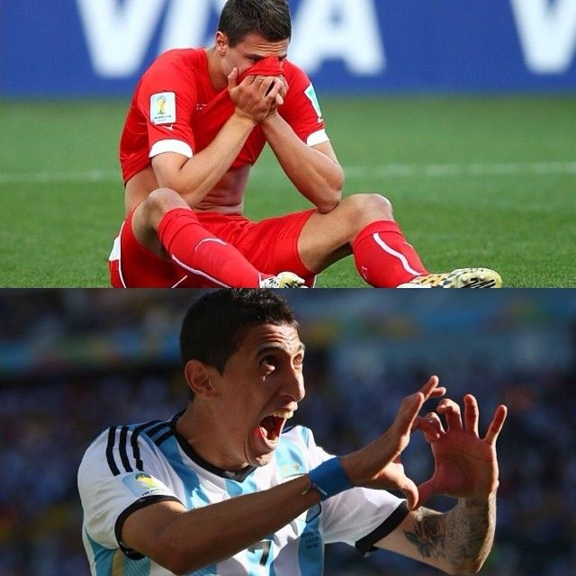 Thrilling last minutes! Di Maria scored the winning goal in minute 118, assisted by Lionel Messi. Switzerland fought very well and hit the post with a header in the very last minute of the match! Thoughts❓
