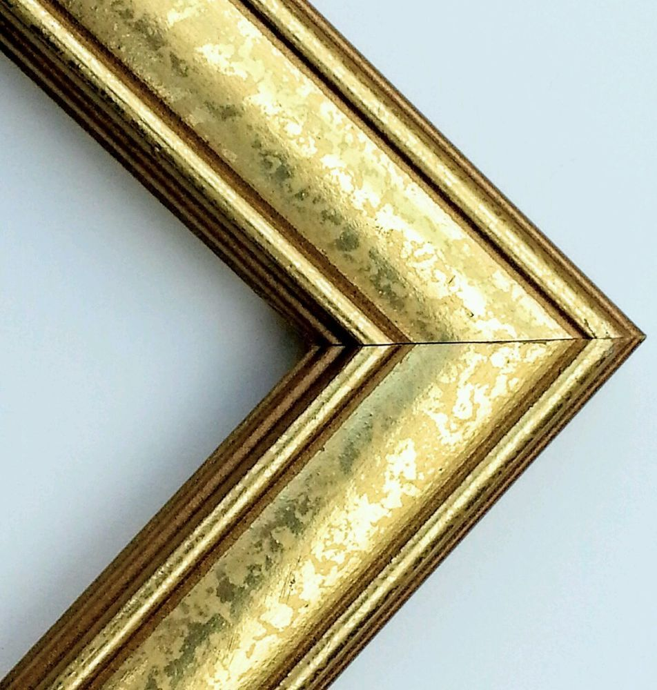 ☆2 DAY SALE☆ 100 ft - Gold Picture Frame Moulding, WOOD, Weathered ...