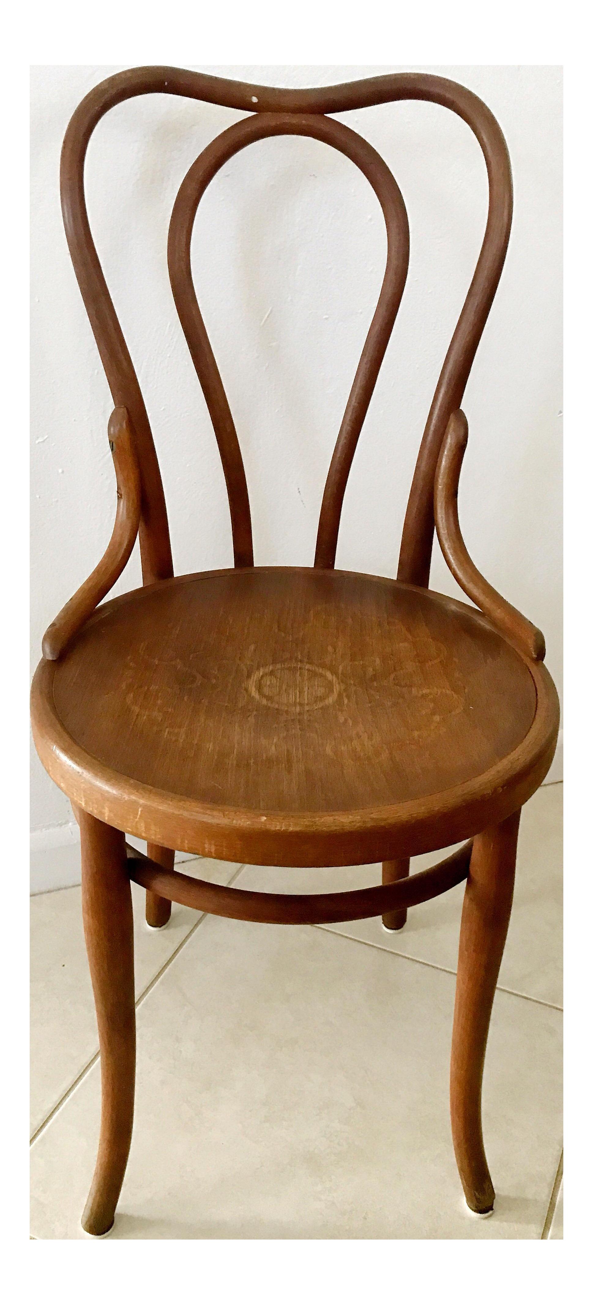Antique fischel bentwood bistro chair on chairish