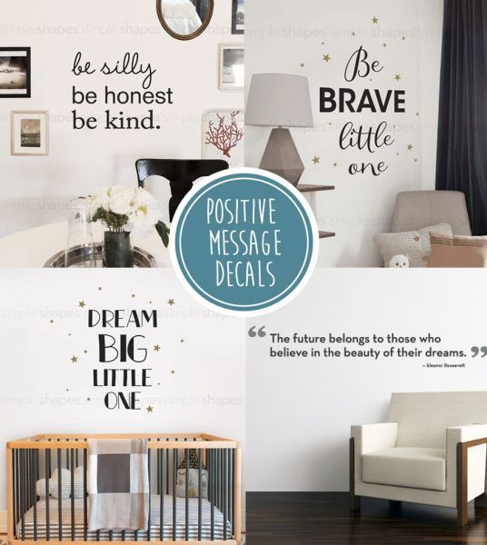 Positive Message Love Quotes #SimpleShapes