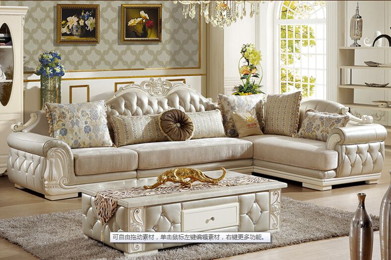 U Best European Style Sofa New Classic Leather Sofa The Living Room Corner Combined French Fabric Sof Classic Sofa Styles Living Furniture Living Room Corner