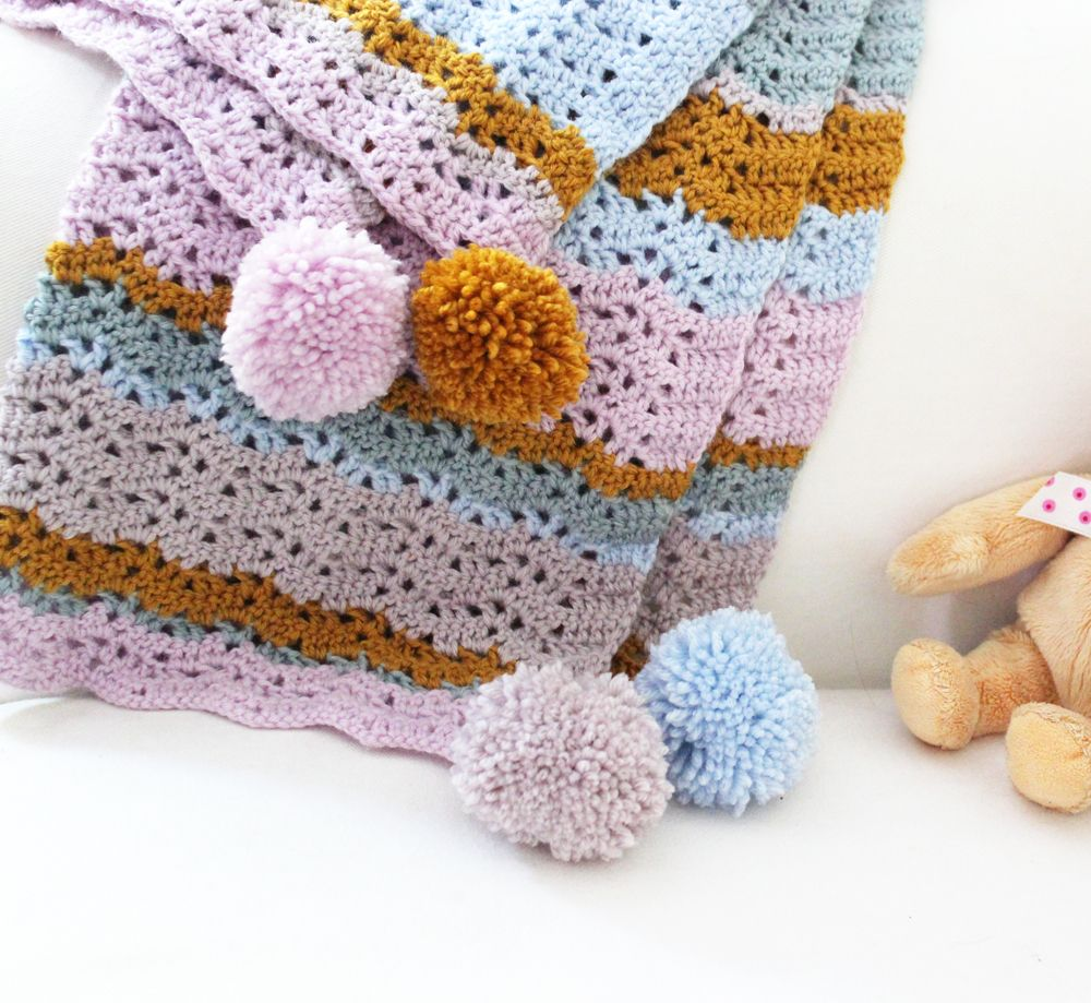 Emma Potter from potter and bloom: free Isla blanket crochet pattern ...