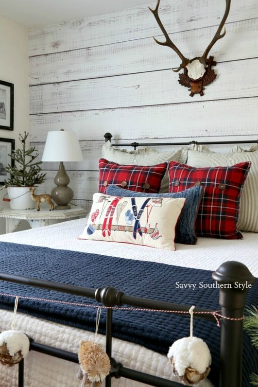 Savvy Southern Style Christmas Cabin Guestroom Tour And Giveaway