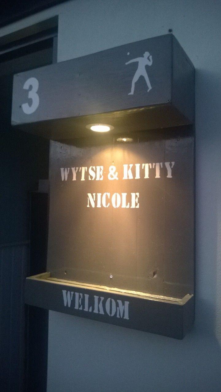 naambord met verlichting leuk voor bij de voordeur in