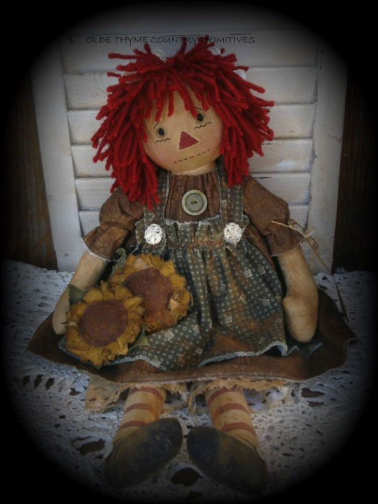 "/""Sunflower Sue/"" Cloth Doll 1997 New"
