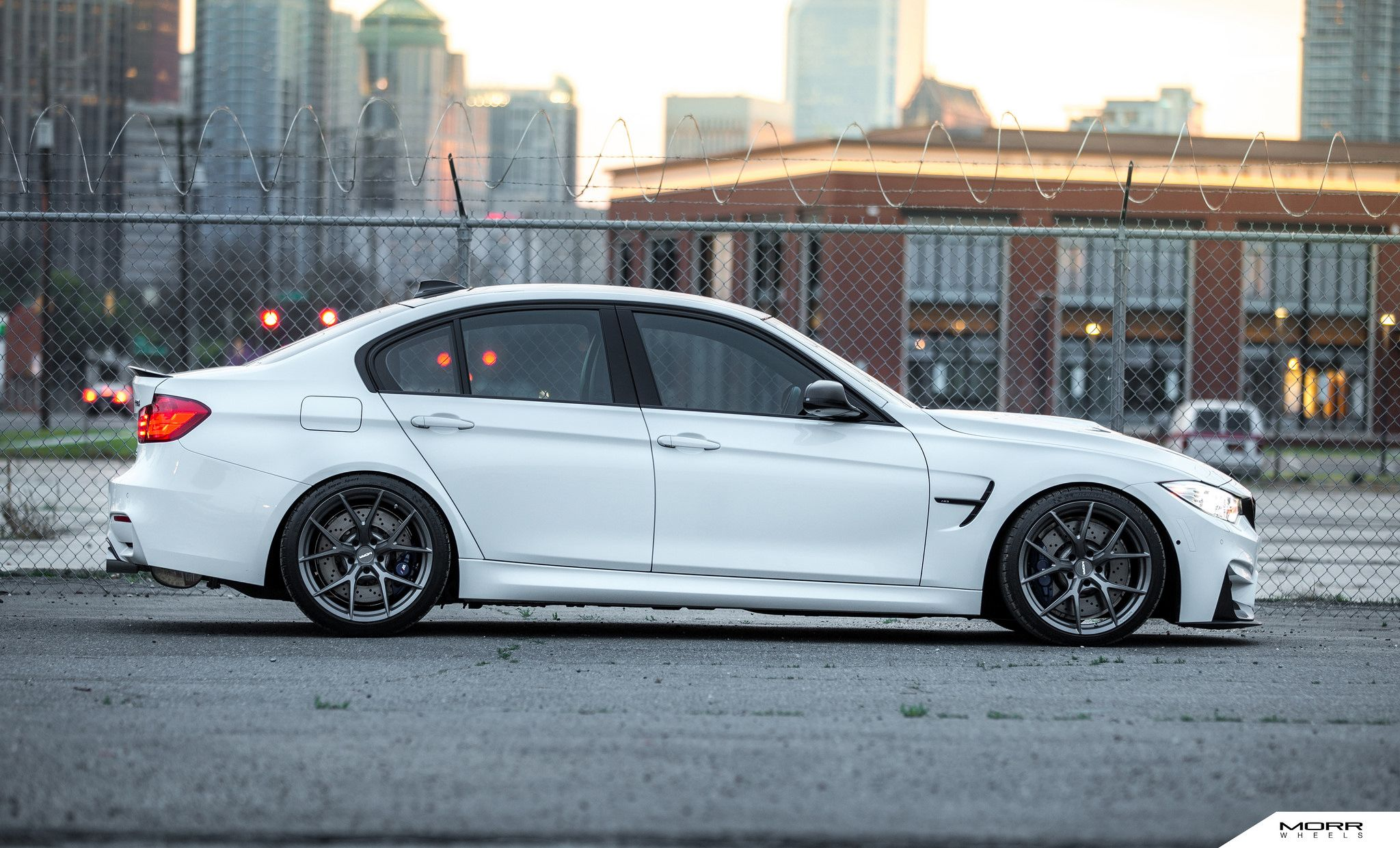 Alpine White Bmw F80 M3 On Morr Wheels With Images Bmw Alpine