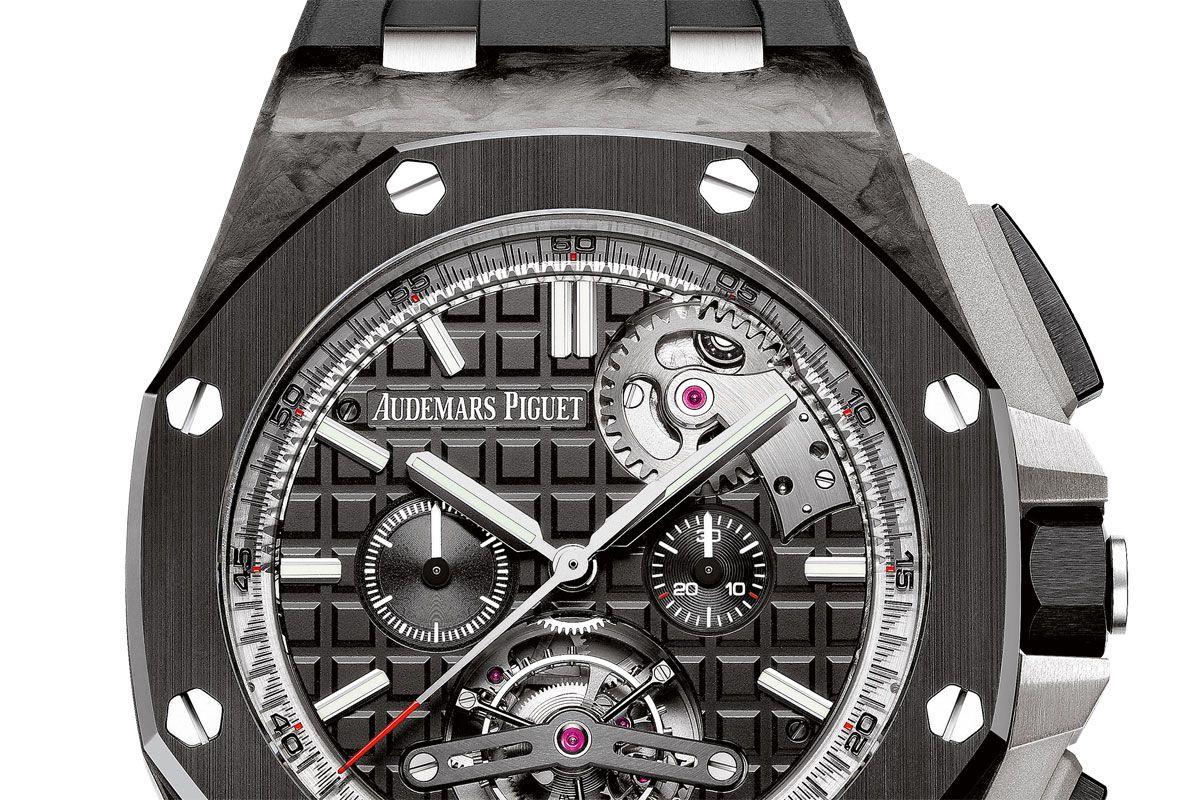 Audemars Piguet Royal Oak Offshore Selfwinding Tourbillon Chronograph for Watches & Wonders #monochromewatches