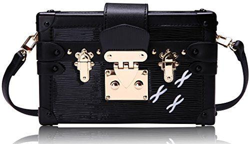 Lush Leather Train Case Crossbody Clutch