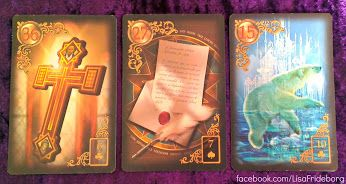 Today's daily 3 card practice draw is from the Gilded Reverie Lenormand