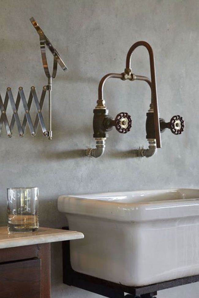 10 id es pour donner un style industriel sa salle de - Robinet salle de bain original ...