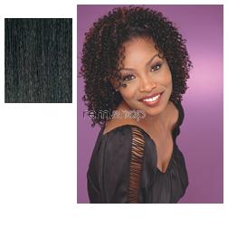 Instant Weave HZ 7009 - Color 1B - Synthetic Half Wig