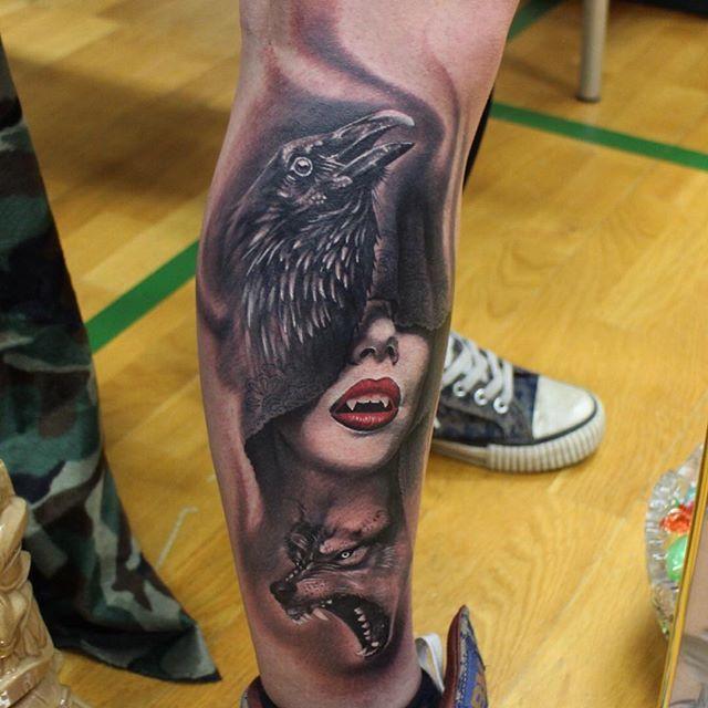 Sexy vampire tattoo