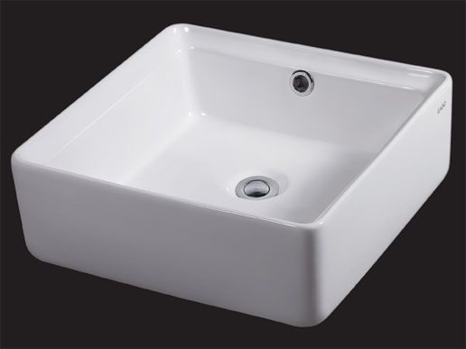 Attrayant EAGO BA130 White Modern 15 Inch Square Porcelain Bathroom Sink With  Overflow 15 X 15 Inches