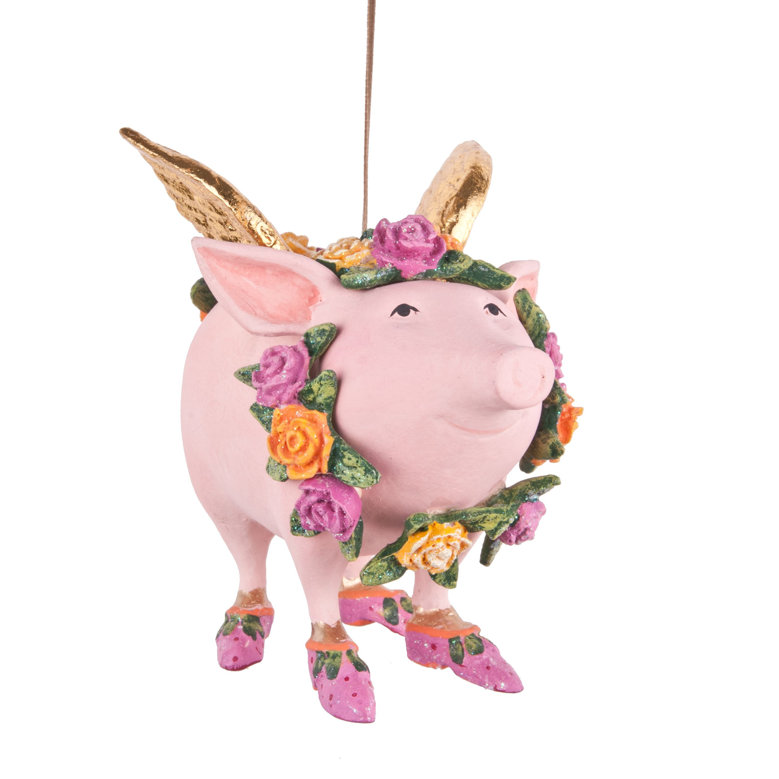 Patience Brewster Rose the Flying Pig Ornaments Available at