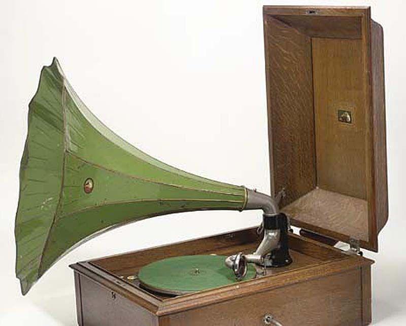 Large Victor Green Horn For Hmv Model 26 Schoolhouse Gramophone Gramophone Phonograph Vintage Electronics