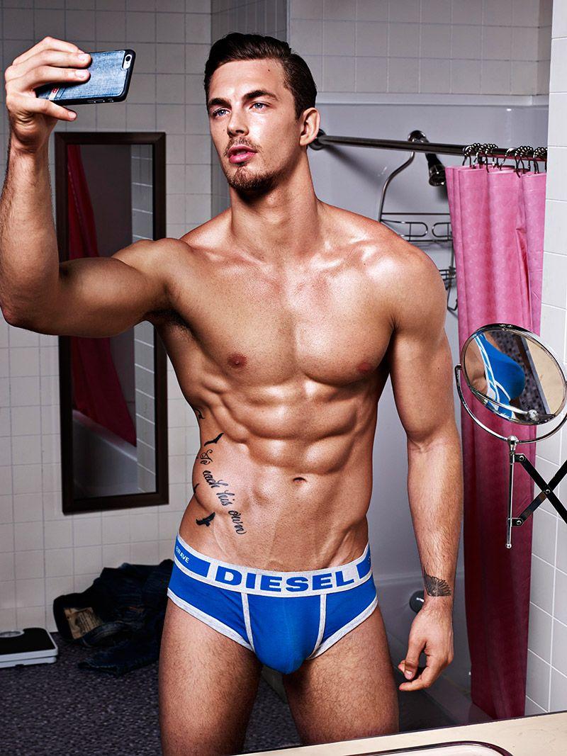 Models Pose for Selfies in Diesel Underwear Hero Fit