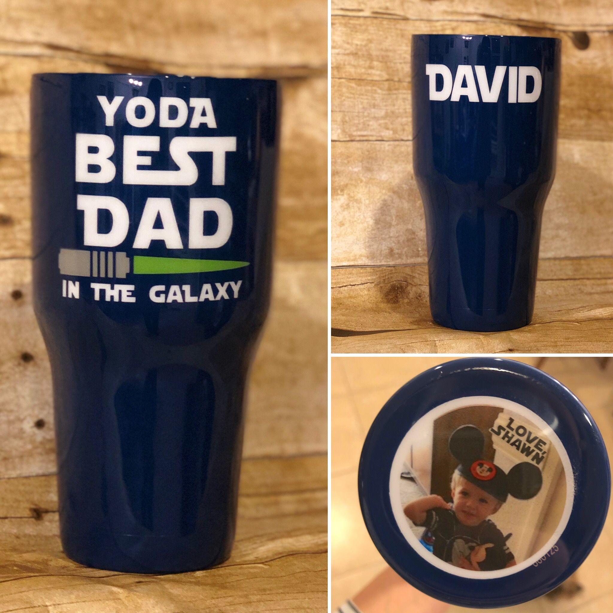 Wood Grain tumbler Custom tumbler- Dad #1 Dad Father/'s Day gift