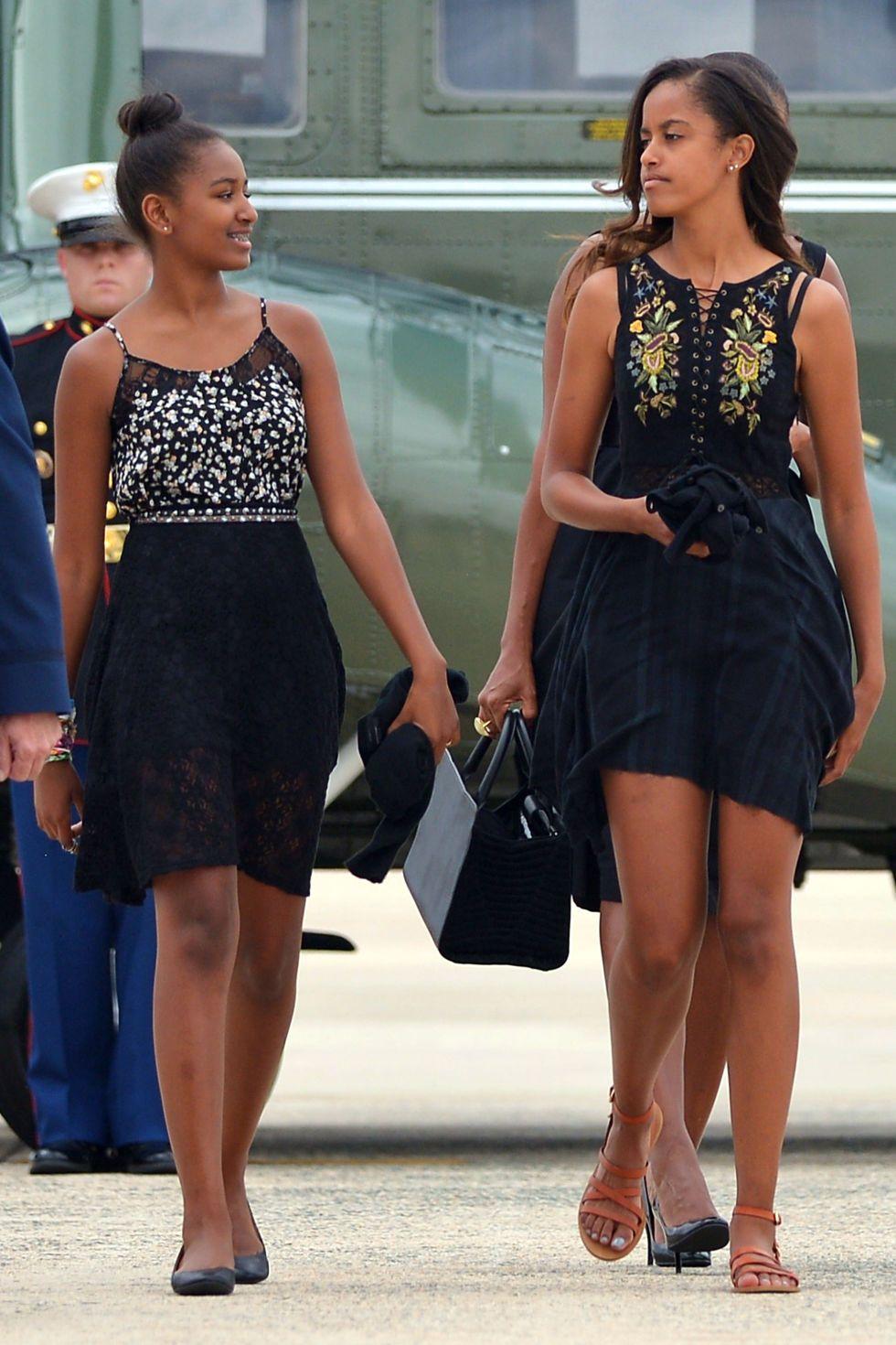 Sasha and Malia Obama Look Spring Chic In Cuba | Malia obama, Sasha obama  style, Malia and sasha