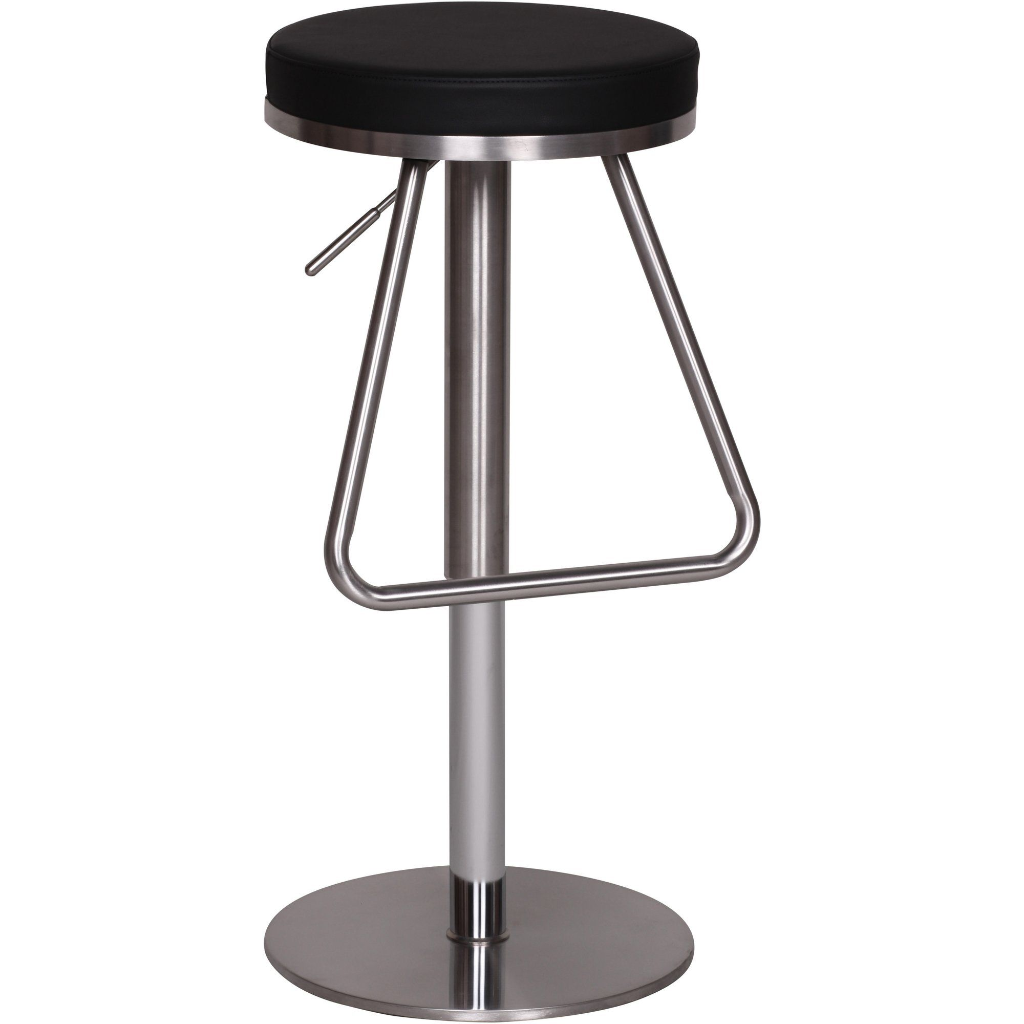 tabouret de bar design assise ronde hauteur r glable wohnling ce tabouret r glable en hauteur. Black Bedroom Furniture Sets. Home Design Ideas