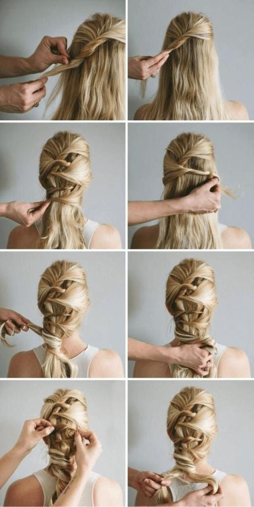Schnelle Frisuren Lange Haare Anleitung Hair Braided Hairstyles