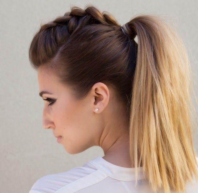 Faux Hawk Ponytail Tutorial Pony Hairstyles Hair Styles Braided Ponytail Hairstyles