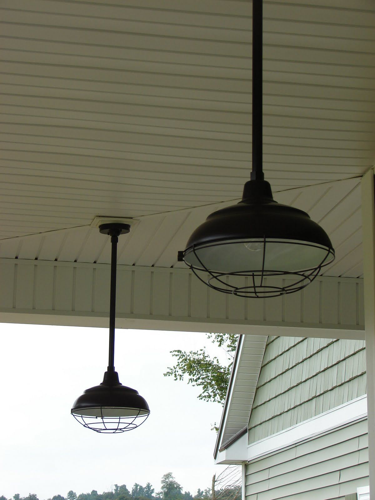 Shana would love something like this on a ceiling fan for in the from barn light electric lighting for kitchen white light with red or galvanized cage mozeypictures Choice Image