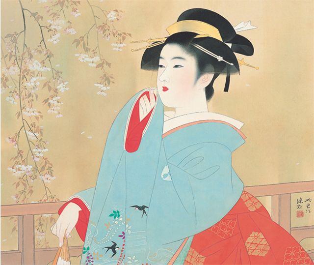 伊東深水 桜花 | Sakura ~ 桜 ~ ...