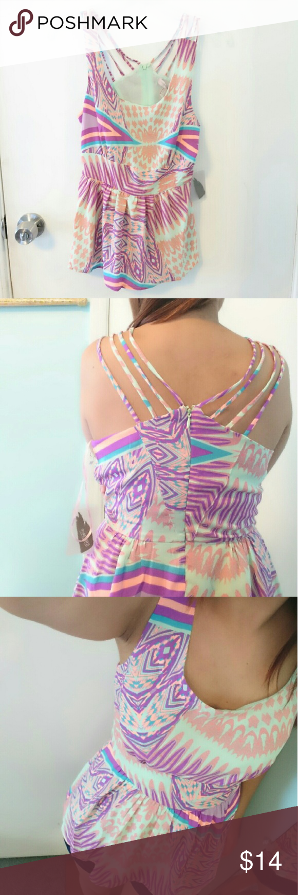 New Forever21 multi color top!!! Forever21 multi color top, Brand NEW with tag!   Love everything about this top from first time I saw it. The color and designed is so unique. Forever 21 Tops Blouses