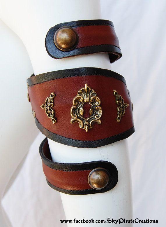 Steampunk Arabella Armlet Arm Band Cuff by SkyPirateCreations, €30.00