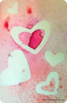 Chalk In My Pocket Spray Paint Valentine S Cards Valentines Cards Valentines Art Paint Cards