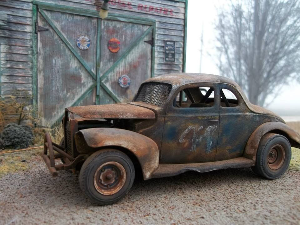 Old Race Car And Barn Car Truck Scale Models Pinterest