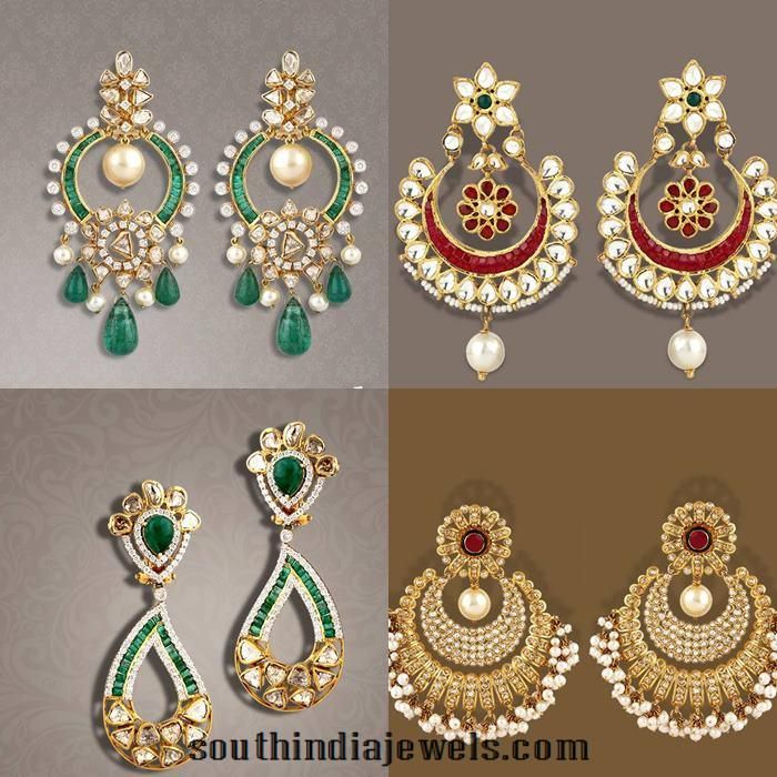 fancy gold earrings from tbz models gold and indian jewelry