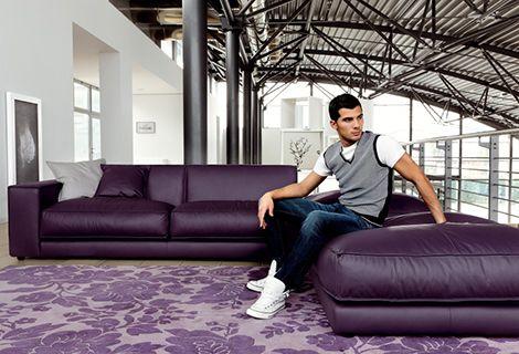 Purple Leather Sofa By Ditre Italia Blob Oversized Purple Leather Sofas Leather Sofa Purple Couch