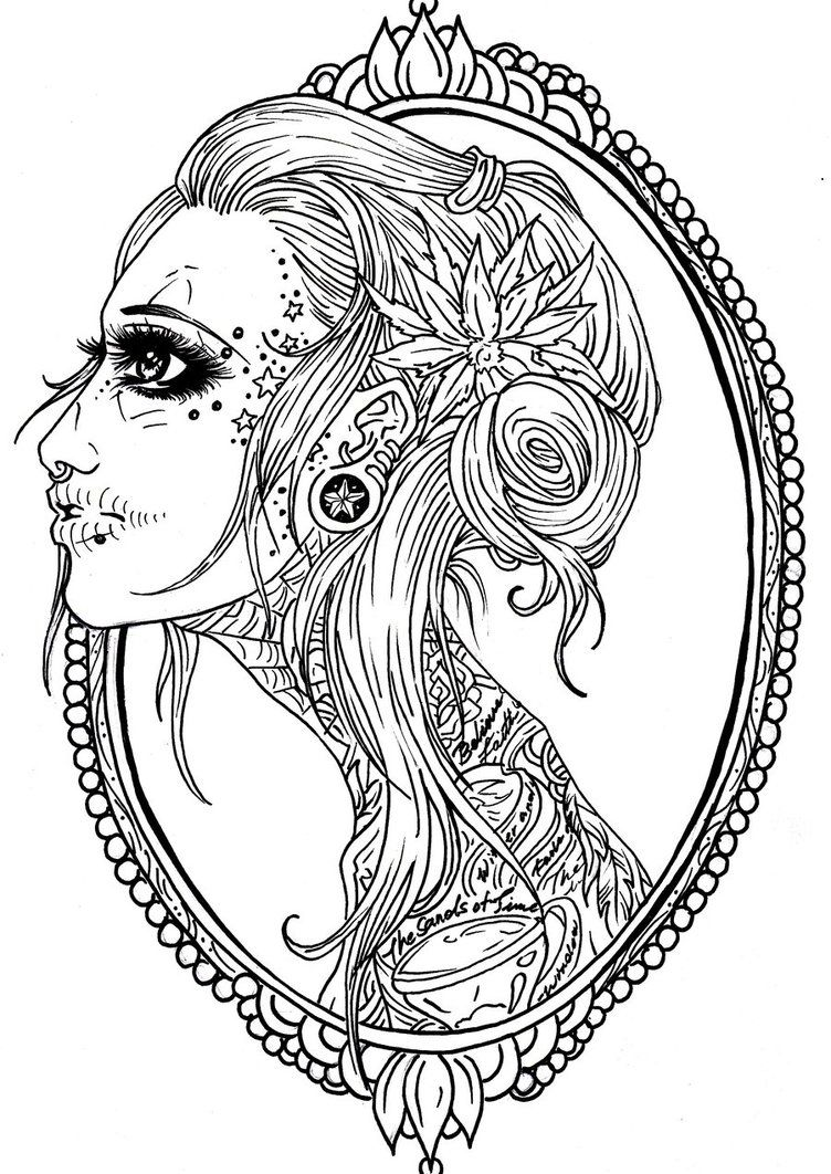 Sugar Skulls Mandalas Printables Viewing Gallery For Female