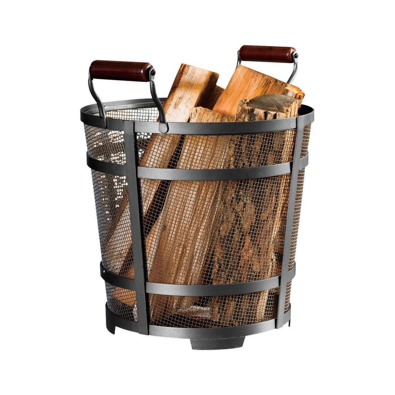 panacea modern prairie log bin ()  log racks  holders  ace  - panacea modern prairie log bin ()  log racks  holders  ace hardware